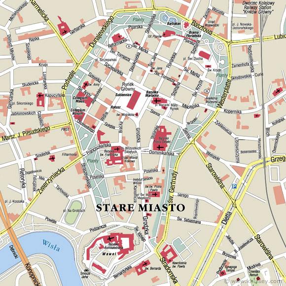 kart over krakow Kenneths blogg » Krakow – dag 1 kart over krakow
